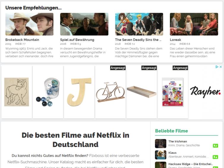 Der Website Tipp Flixboss – Entdecke das Beste auf Netflix