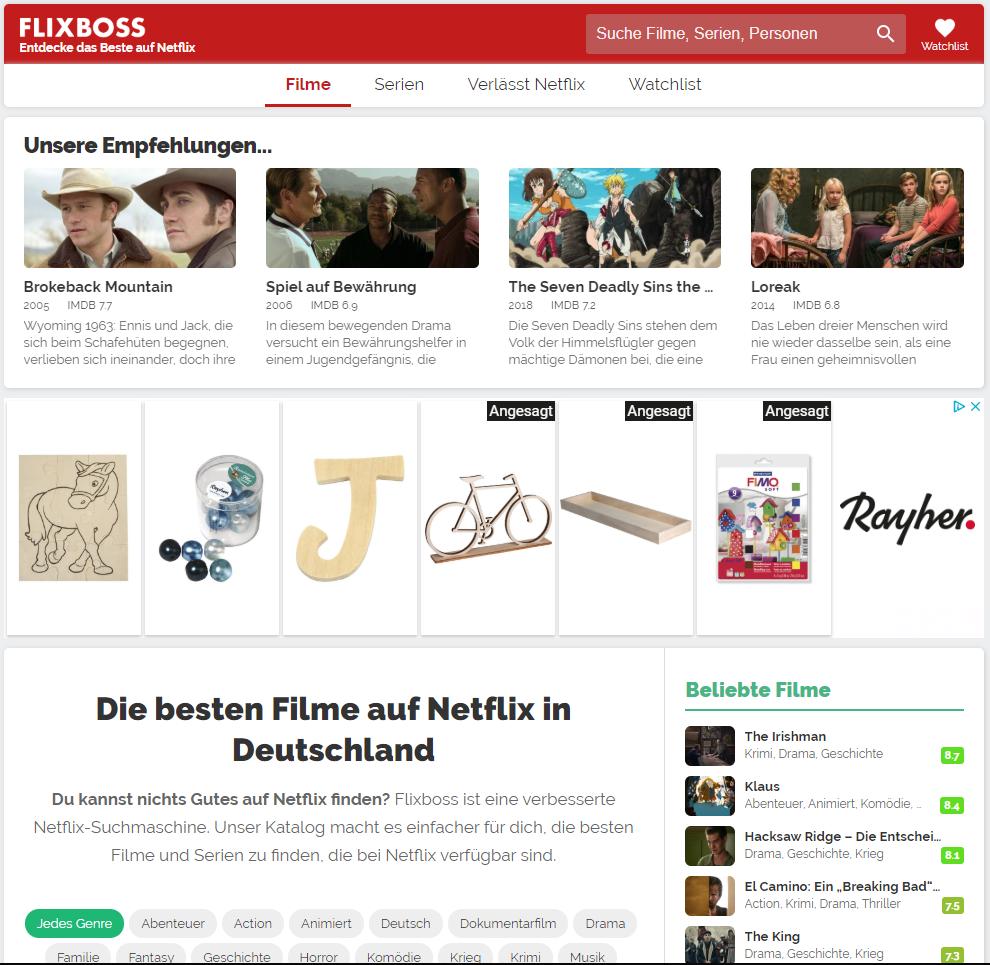 Flixboss - Entdecke das Beste auf Netflix